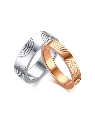Couples Creative Geometric Shaped Titanium Ring