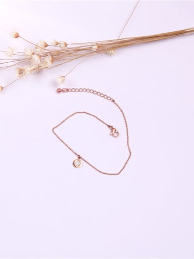 Small White Shell Simple Anklet