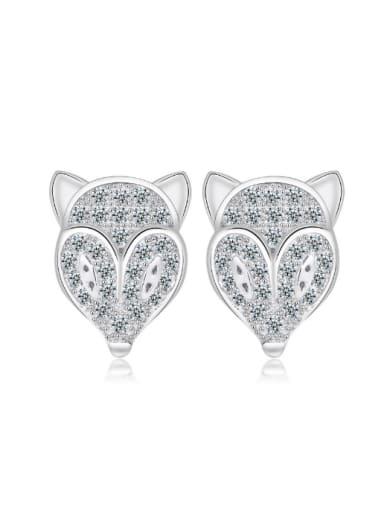 Lovely Fox-head Shaped Women Stud Earrings