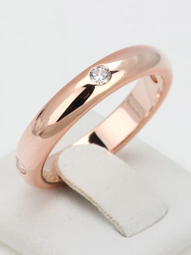 Smooth Zircons Simple New Copper Ring