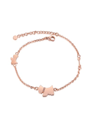 Simple Rose Gold Plated Titanium Anklet