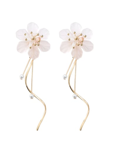 Alloy With Rose Gold Plated Fashion Flower Drop Earrings