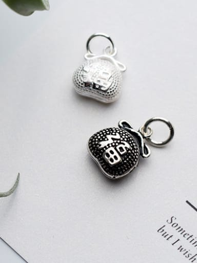 925 Sterling Silver With Antique Silver Plated Fashion Clothes Charms