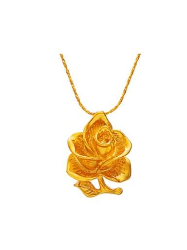 Retro Flower Gold Plated Pendant