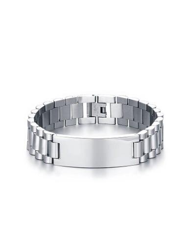 Fashionable Geometric Shaped High Polished Titanium Bracelet