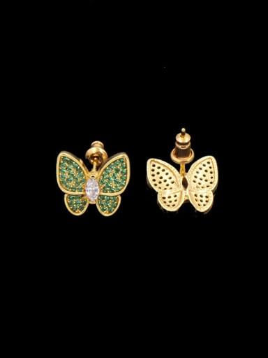 Butterfly Copper stud Earring