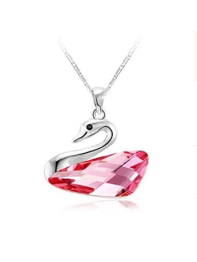 Elegant Austria Crystal Swan Necklace