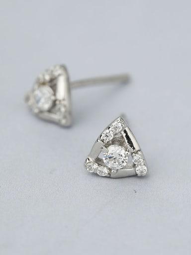 Women Triangle-shaped Zircon Stud Earrings