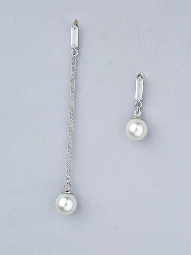 Women Elegant Asymmetrical Pearls Earrings