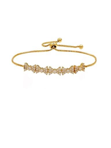 Copper With Cubic Zirconia  Simplistic Bowknot Adjustable Bracelets