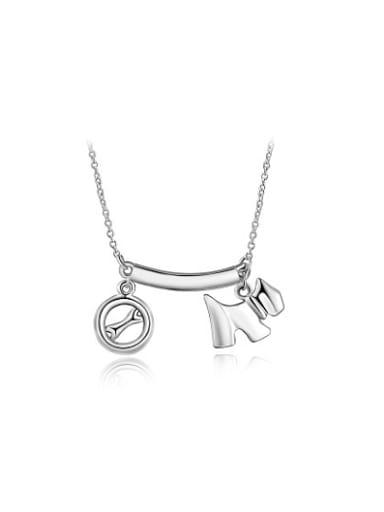 High-quality Platinum Plated Cartoon Dog Shaped Necklace