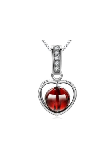 Valentine's Day Gift Heart Red Crystal Pendant