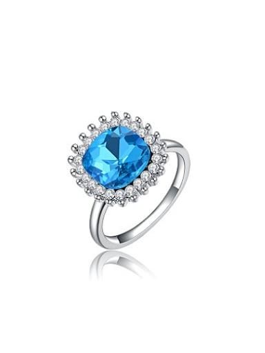 Elegant Blue Austria Crystal Women Ring