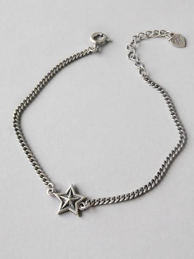 Sterling silver retro stars bracelet