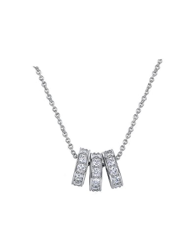 2018 Round Shaped Zircon Necklace