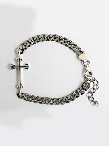 Retro style Cross Antique Silver Plated Bracelet