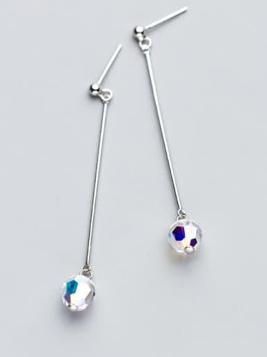 Exquisite Multi-color Round Shaped Crystal Drop Earrings
