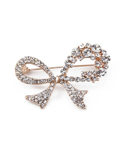 2018 2018 2018 Bowknot Shaped Crystals Brooch