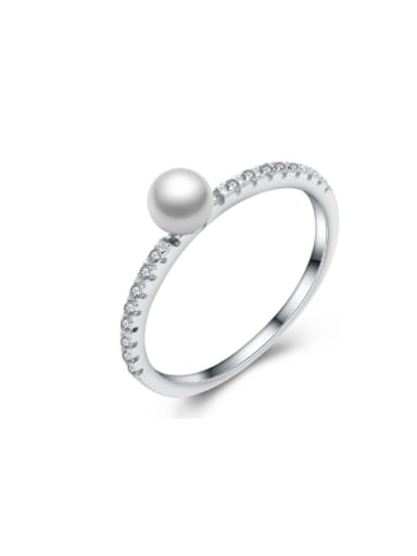 Personality Shell Pearl Wedding Accessories Ring