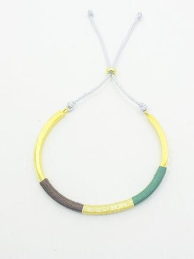 Women Adjustable Length Braided Rope Bracelet