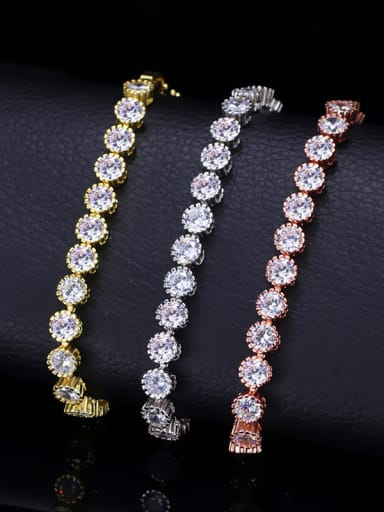 Classic Simple and elegant Micro-inlaid Zircon Bracelet (adjustable size 17CM-19CM)