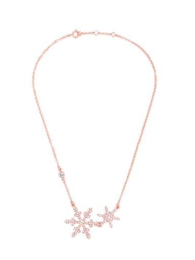 Elegant Snow Alloy Clavicle Necklace