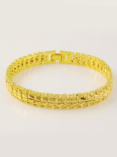 Fashion Crown Shaped 24K Gold Plated Bracelet
