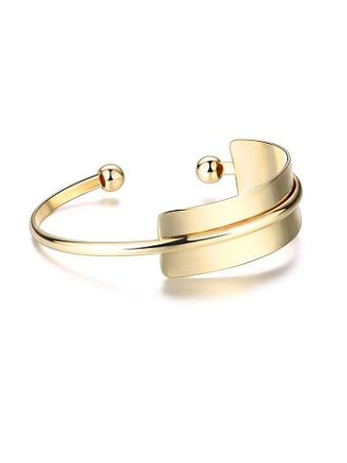 Delicate Gold Plated Geometric Open Design Bangle
