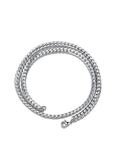 Fashion Platinum Plated Geometric Shaped Necklace
