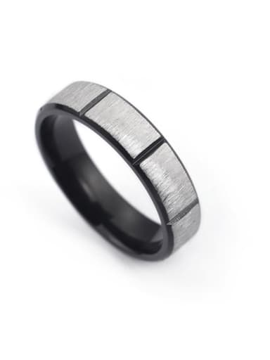 Stainless Steel With Gun Plated Trendy Round Rings