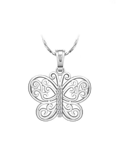 Hollow Butterfly Zircon Women Necklace