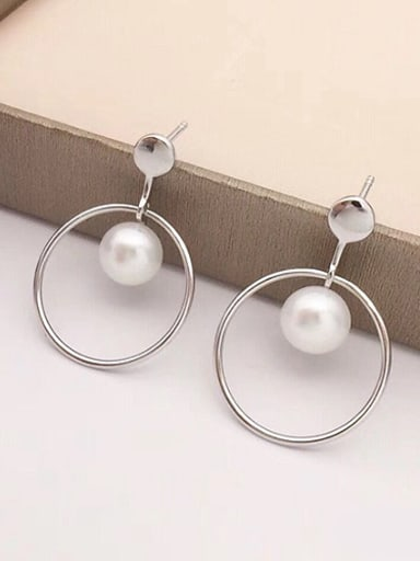 Freshwater Pearl Hollow Round stud Earring