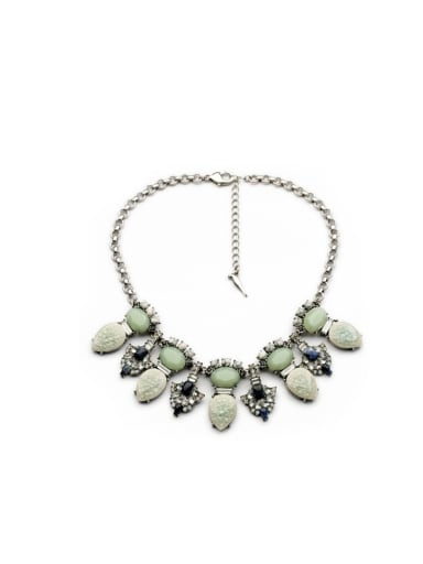 Luxury Artificial Stones Alloy Necklace