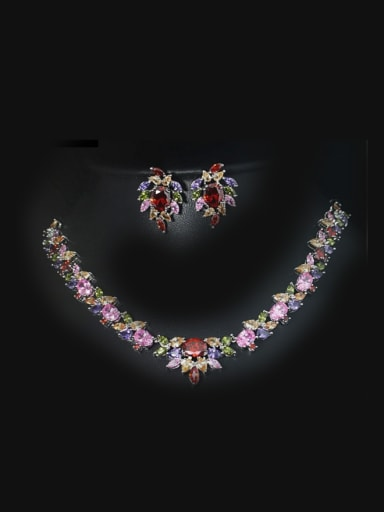 Luxury Necklace earring Jewelry Dinner Party