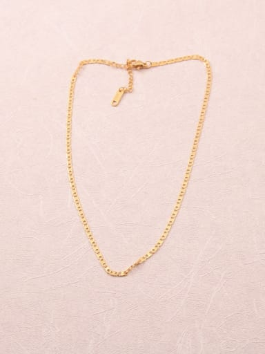 Titanium With Gold Plated Simplistic Chain Necklaces