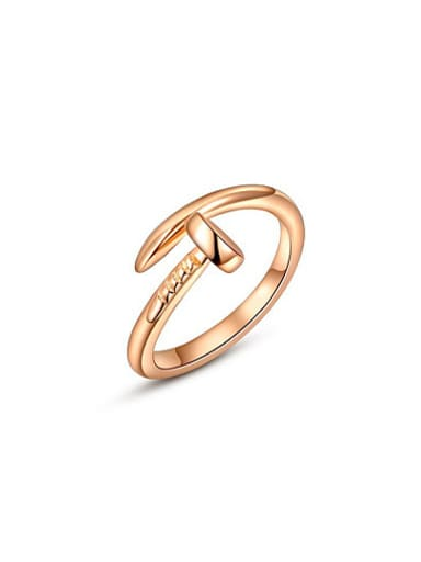 Personality Rose Gold Plated Nail Shaped Ring