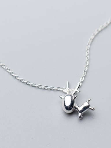 Christmas jewelry: Sterling silver sweet elk necklace