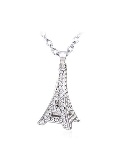 Fashion Eiffel Tower Rhinestones Necklace