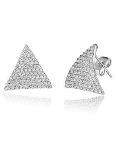 Triangle Zircon stud Earring