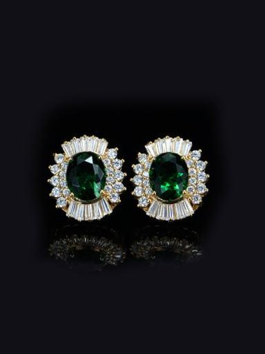 Shining Crystal Zircons Stud Cluster earring