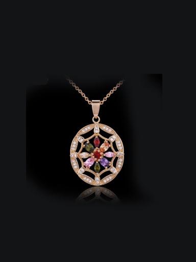 Round Shaped Zircons Necklace