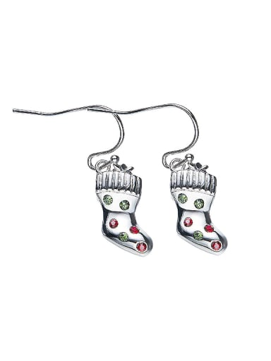Christmas Socks Shaped Crystal hook earring