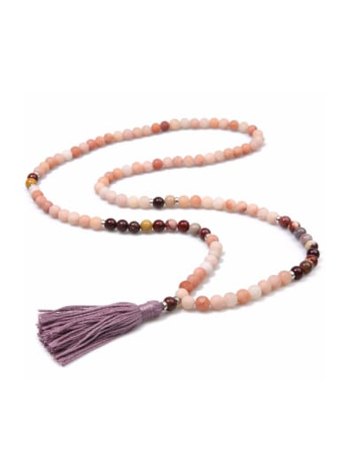 Retro Temperament Ssemi Jewel Tassel Necklace