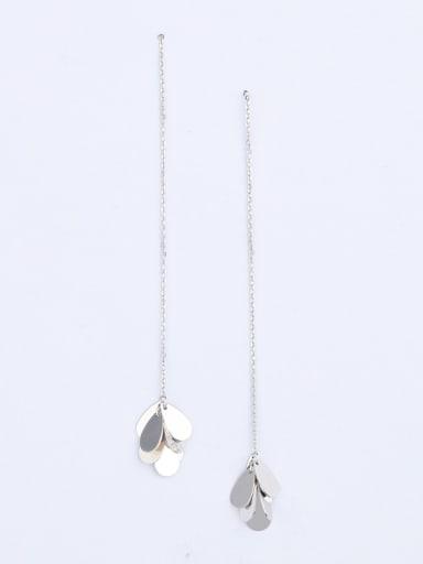 Women 925 Silver Tag Line Earrings
