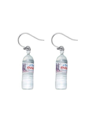Creative Mineral Water Bottle PVC Earrings