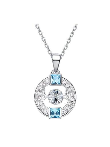 Fashion Swarovski Crystals Round Necklace