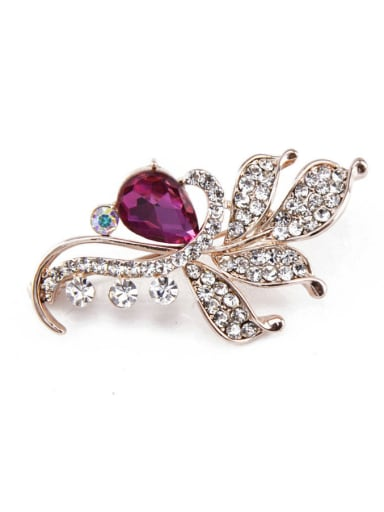 new 2018 Flower-shaped Crystals Brooch