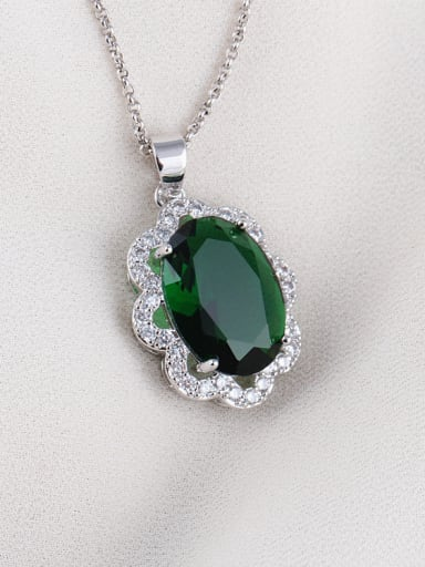 High-quality Zircon Exquisite European and American Quality Pendant Necklace