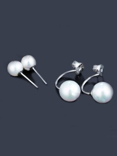 S925 Silver Pearl stud Earring