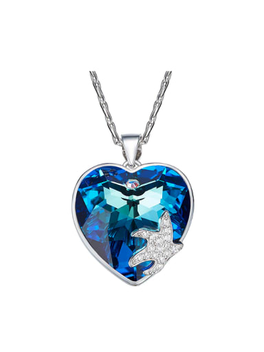 Heart-shaped Swarovski Crystals Necklace